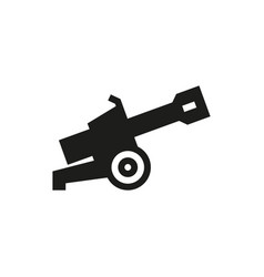 cannon icon on white background vector image
