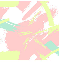 creative pattern in pastel colors brush vector image vector image