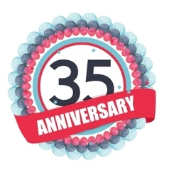 Cute Template 35 Years Anniversary with Balloons vector image