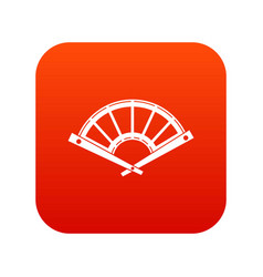 fan icon digital red vector image