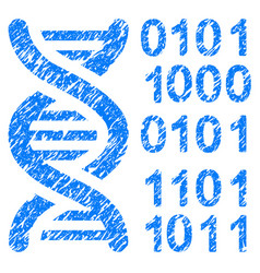 Genome code grunge icon vector