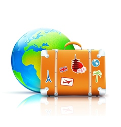 global travel concept vector image vector image