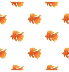 Gold fish icon cartoon Singe aquarium fish icon vector image