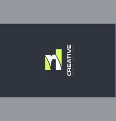 Green letter rl r l combination logo icon company vector