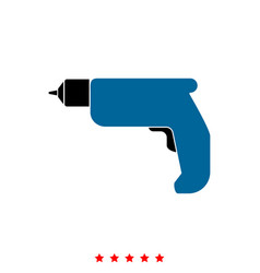 Hand drill it is icon vector