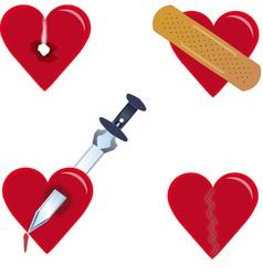 heartache vector image vector image