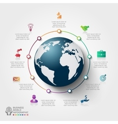 infographics global template for 9 options vector image vector image