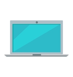 Laptop Icon Button Isolated on White vector image vector image
