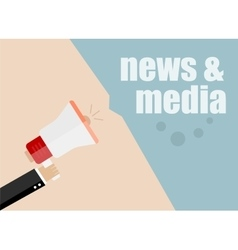 news and media Megaphone Flat design vector image vector image