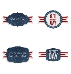 Patriot Day realistic Banners Set vector image vector image