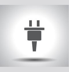 power energy symbol on white background vector image