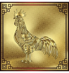 Rooster chinese zodiac symbol of the 2017 vector