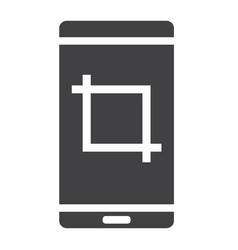 screenshot glyph icon web and mobile camera sign vector image vector image