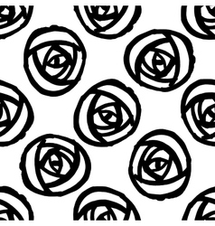 Seamless background with stylized roses vector image
