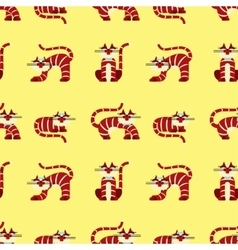Seamless pattern character cats vector image