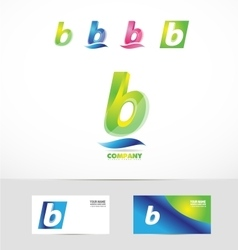 Small letter b icon logo vector