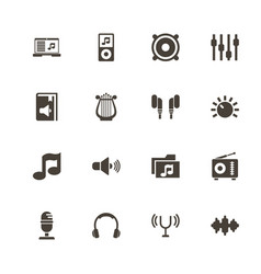 sound - flat icons vector image