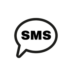 The sms icon Text message symbol Flat vector image