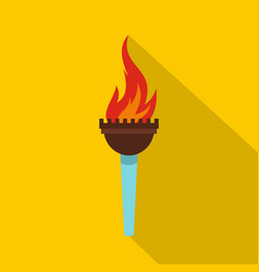 Torch icon flat style vector