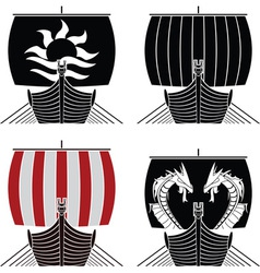 Viking ships vector