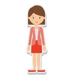 young woman female isolated vector image vector image