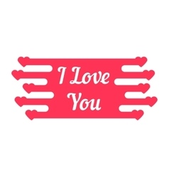 Pink i love you melted sign vector