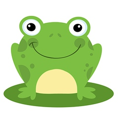 Happy head frog cartoon character vector