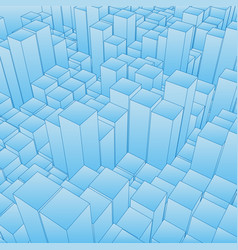 abstract landscape with blue cubes vector image
