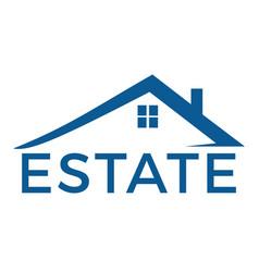 Real estate logo design template vector