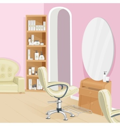 Beauty salon interior vector