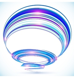 Blue abstract futuristic spiral background vector