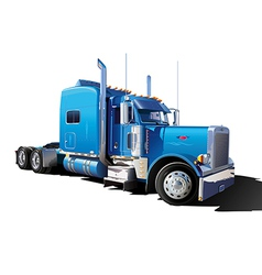 Big blue truck vector