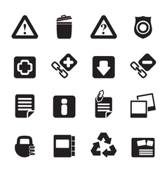 Silhouette web site and computer icons vector