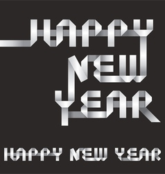 Happy new year origami style vector