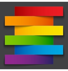 Infographics rainbow paper stripe banners with vector