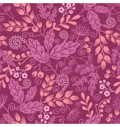 Fall garden seamless pattern background vector