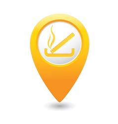 smoking MAP pointer yellow vector image