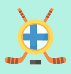 Hockey in finland vector