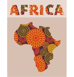 Africa - patterned map vector