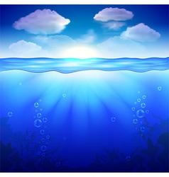 Sky and underwater background vector