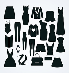 Clothes icon set collection of fashion signs and vector