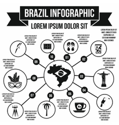 Brazil infographic elements simple style vector