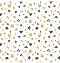 Seamless pattern with hand drawn stars stylish vector