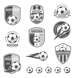 Set of football logos vector