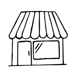 Hand drawn shop icon isolated doodle vector