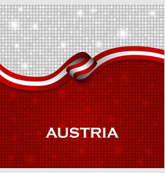 Austria flag ribbon shiny particle style vector