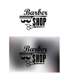 Barber Shop emblems or labels vector image