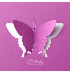 Beautiful colorful butterfly background concept vector