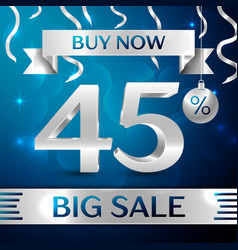 Big sale buy now forty five percent for discount vector