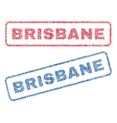 Brisbane textile stamps vector
